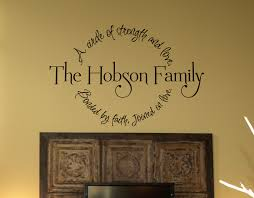 Family Circle Bonded By Faith Wall Decal Family Circle Wall - Family room wall quotes