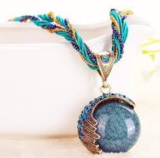 necklace crystals images Reiki ball crystal lucky divination stone necklace atperrys JPG