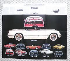 corvette timeline 1953 1978 corvette history timeline brochure poster ebay