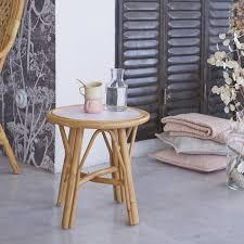 table bout de canap bout de canapé en rotin naturel vente de table de salon ronde