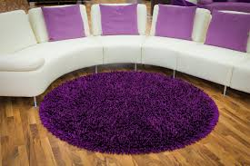 Orange And White Striped Rug Bedroom Round Purple Fur Rug Added By Curvy White Sofa With