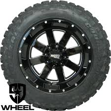 black wheels 20x12 black moto metal 962 wheels rims 35 federal mt tires dodge