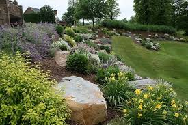 Sloping Backyard Landscaping Ideas Rock Sloped Backyard Landscaping Amazing Sloped Backyard