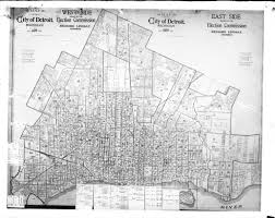 Chicago Ward Map Map Detroit Election Commission 1920 Detroitography