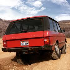 red land rover old 1990 range rover classic expedition portal