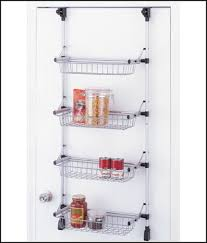 use an over the door spice rack organizer in the bedroom to wall