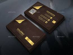 golden business card by axnorpix graphicriver