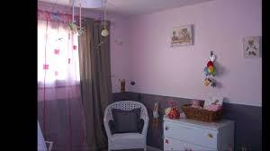 chambre bébé fille violet peinture chambre fille mauve
