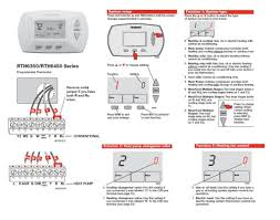 honeywell thermostat wiring instructions with wire diagram