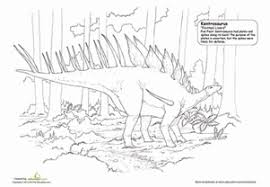 obscure dinosaur coloring pages education com