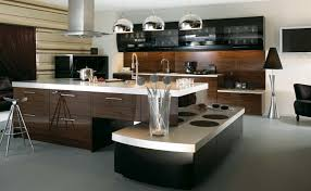 inviting rectangle kitchen island design with brown granite
