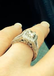 Jared Cushion Cut Engagement Rings Jared Diamond Bridal Set 7 8 Ct Tw Princess Cut 14k White Gold