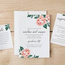 diy wedding invitation template colorful floral word or pages