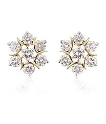 diamond earrings with price avsar 18k gold diamond studs buy avsar 18k gold diamond studs