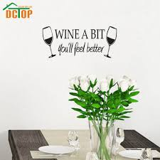 online get cheap wine wall quotes aliexpress alibaba group dctop wine bit vinyl wall art quote sticker dinning kitchen removable home decor mural
