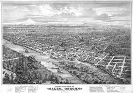 halloween city salem oregon artist u0027s aerial view of salem oregon 1876 historic photos