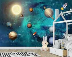 child wall mural promotion shop for promotional child wall mural beibehang 3d wallpaper hand painted space universe children room background wall murals living room tv wallpaper for walls 3 d