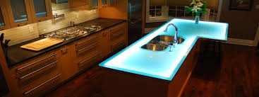Blue Glass Kitchen Backsplash Attractive Modern Kitchen Countertop White Granite Countertop