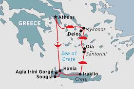 Map Of Crete Greece by Greek Island Odyssey Greece Tours Peregrine Adventures Us