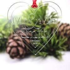 mirrored personalised christmas tree decoration bauble