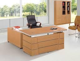Light Wood Desk Furniture Light Brown Wooden L Shaped Desk With Storage And Short