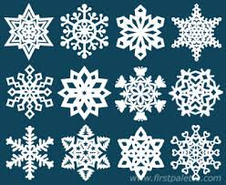 paper snowflake craft crafts firstpalette