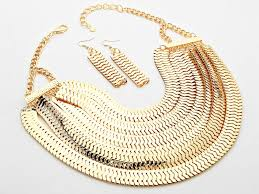 chain necklace snake images Multi layered snake chain bib necklace jewel addicts jpg