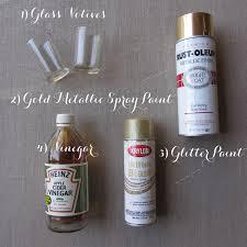 Krylon Textured Spray Paint - diy gold mercury glass votives linen lace love