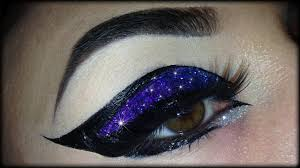 spring make up tutorial exotic colorful and glittery cat