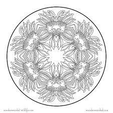 free printable flower mandala coloring pages aquadiso