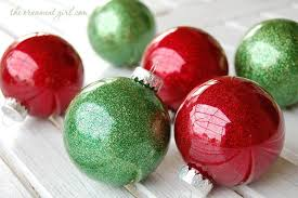 easy diy glitter inside clear plastic ornaments