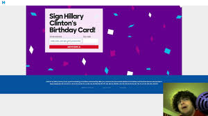 signing hillary clinton u0027s birthday card youtube