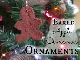 ornaments cinnamon ornaments baked apple