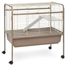 Pet Hutch Prevue Pet Jumbo Tubby Rabbit Cage On Stand With Blue Tub Hayneedle