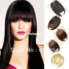 clip on bangs black brown clip in on fringe hair extension for