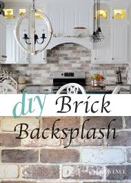 do it yourself brick veneer backsplash bricks kitchens and house