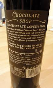 chocolate shop wine the chocolate shop chocolate lover s wine