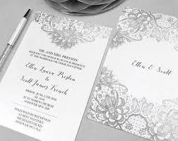 Silver Wedding Invitations Silver Lace Wedding Invitations Etsy