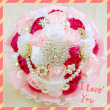 bouquets for wedding cheap bridal bouquets for wedding artificial lace satin