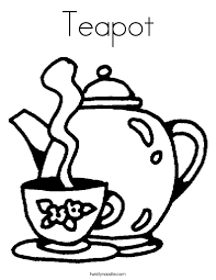 Teapot Coloring Page Twisty Noodle Cup Coloring Page