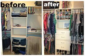 closet makeover for small closets