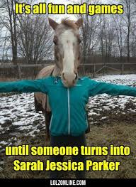 Horse Head Meme - it s all fun and games until someone turns funny lol
