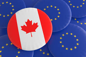 Flag Of The European Union Partnership Canada Eu Canadian Flag European Union Flag Badges