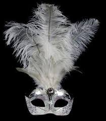 feather mask stella feather masquerade mask silver white venetian feather mask