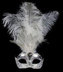 silver masquerade masks stella feather masquerade mask silver white venetian feather mask