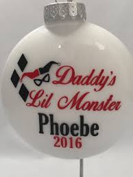 daddy u0027s lil monster personalized ornament