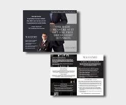 elegant masculine brochure design for massimiliano mattetti by
