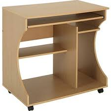 Beech Computer Desk by Computer Desk Trolley Beech Colour Curved Style Ready Packed