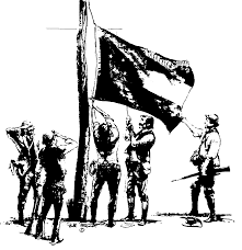 Soldiers Lifting Flag Flag Raising Clipart 22