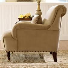 Table Legs With Casters by Traditional Accent Chair With English Arms And Turned Legs With